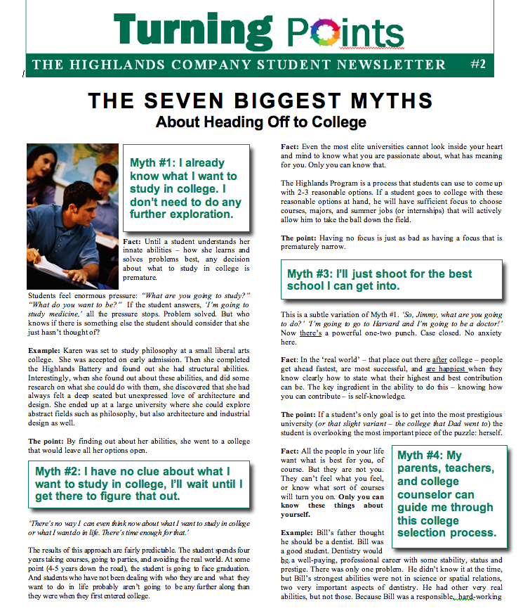 Headed to College Myths